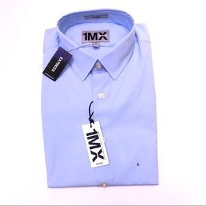 Express fitted dress shirt size Small 14-14.5